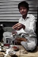 Saffron seller
